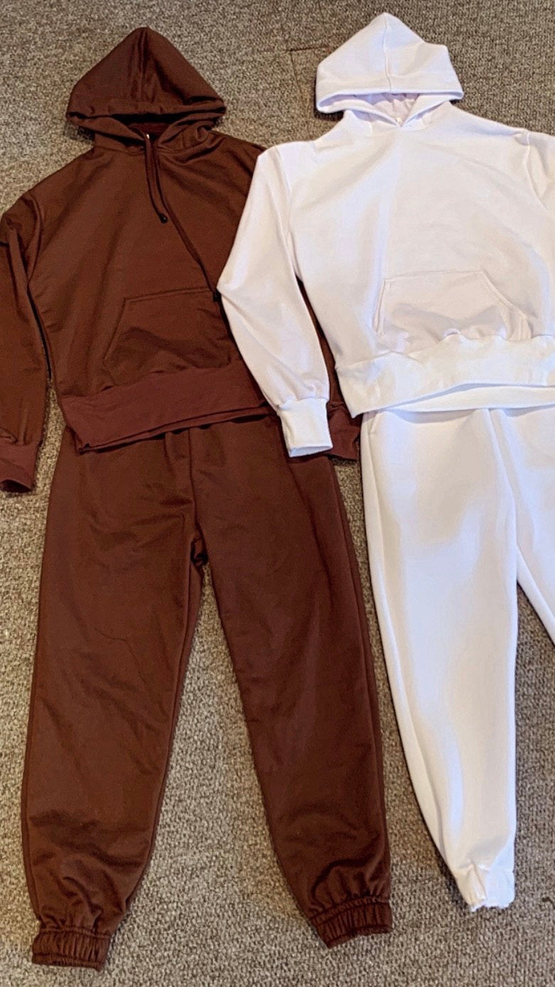 Jogger and Hoodie Set Sale