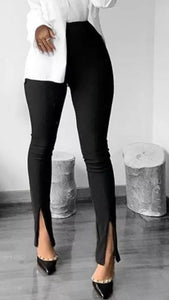 "D114 ""Leggings with front slit. Double layered."""