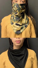 Load image into Gallery viewer, Double Sided Camo/Black Scarf Mask