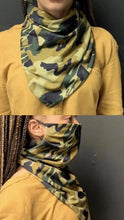 Load image into Gallery viewer, Camo Scarf Mask