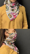 Load image into Gallery viewer, Pink Print Scarf Mask