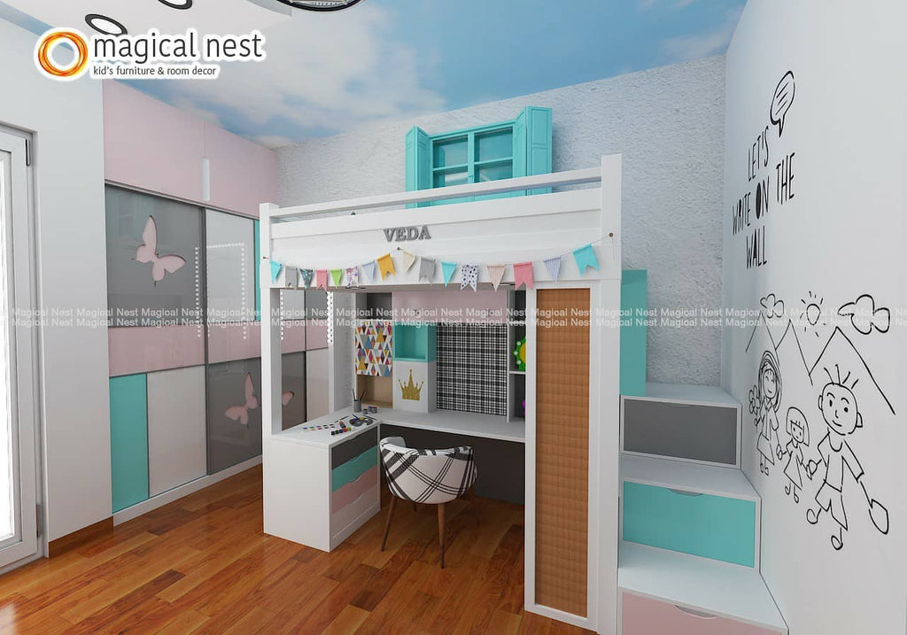 Space-Saving Kid's Room Designs For Small Rooms