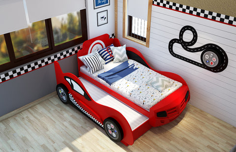 Conventional trundle car bed