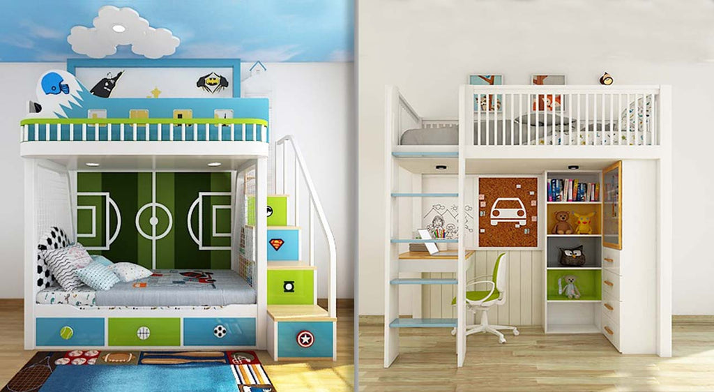 A Bunk Bed and A Loft Bed