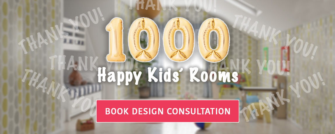 We have done over 1000 happy kid's room, book design consultation with us.