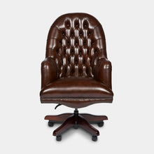 Load image into Gallery viewer, Chesterfield-Leather-Presidents-Swivel-Office-Chair-r1