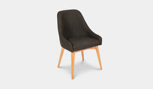 Load image into Gallery viewer, Dining-Chair-Black-Fabric-Collaroy-r2