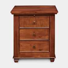 Load image into Gallery viewer, Mahogany-3Drawer-Bedside-Table-Chelmsford-r1