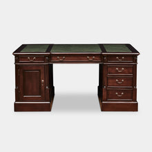Load image into Gallery viewer, Mahogany-Desk-TeaBrown-Green-Leather-Everingham-160-r1