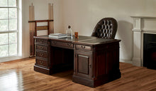 Load image into Gallery viewer, Mahogany-Desk-TeaBrown-Green-Leather-Everingham-160-r2