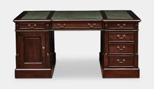 Load image into Gallery viewer, Mahogany-Desk-TeaBrown-Green-Leather-Everingham-160-r4