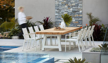 Load image into Gallery viewer, Crosstie Teak Outdoor Dining Table 240cm