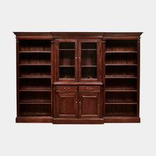 Load image into Gallery viewer, Solid-Mahogany-Bookcase-Everingham-3Piece-r1