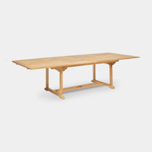 Load image into Gallery viewer, Teak-Double-Rectangle-Extending-Table-r1