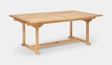 Load image into Gallery viewer, Teak-Double-Rectangle-Extending-Table-r8