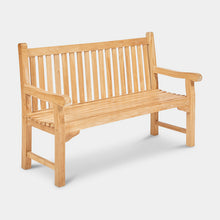 Load image into Gallery viewer, Teak-Outdoor-Bench-Classic-150cm-r1