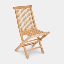 Load image into Gallery viewer, Teak-Outdoor-Dining-Chair-Classic-r1