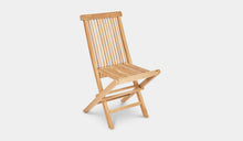 Load image into Gallery viewer, Teak-Outdoor-Dining-Chair-Classic-r6