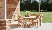 Load image into Gallery viewer, Teak-Outdoor-dining-chair-Blaxland-With-Arms-r2
