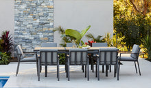 Load image into Gallery viewer, Teak-aluminium-outdoor-dining-Kai9pc-r2