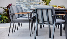 Load image into Gallery viewer, Teak-aluminium-outdoor-dining-Kai9pc-r3