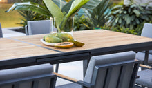 Load image into Gallery viewer, Teak-aluminium-outdoor-dining-Kai9pc-r5