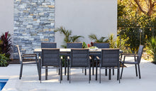 Load image into Gallery viewer, Teak-aluminium-outdoor-dining-MacKay-r3