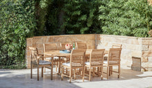 Load image into Gallery viewer, Teak-outdoor-9piece-setting-blaxland-side-chair-1