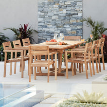 Load image into Gallery viewer, Teak-outdoor-dining-setting-Bakke-r1