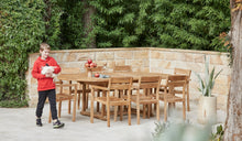 Load image into Gallery viewer, Teak-outdoor-oval-table-Sydney-Bakke-r2