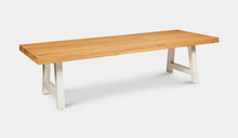 Load image into Gallery viewer, large-teak-table-crosstie-rockdale-r11