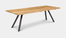 Load image into Gallery viewer, teak-aluminium-outdoor-dining-miami-bench-setting-r6