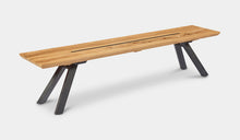 Load image into Gallery viewer, teak-aluminium-outdoor-dining-miami-bench-setting-r7