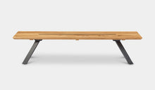 Load image into Gallery viewer, teak-aluminium-outdoor-dining-miami-bench-setting-r8