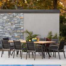 Load image into Gallery viewer, teak-aluminium-outdoor-dining-miamirockdale-r1