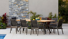 Load image into Gallery viewer, teak-aluminium-outdoor-dining-miamirockdale-r2