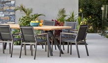 Load image into Gallery viewer, teak-aluminium-outdoor-dining-miamirockdale-r3