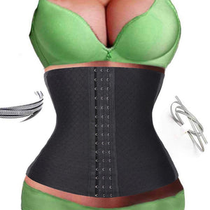 2016 Sexy Women  Slimming Under Bust Corset Body Shaper Tummy Belt Waist Trainer Cincher Plus Size Latex Body Shaper Weight Loss