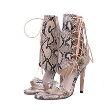 Load image into Gallery viewer, Roman Buckle Strap Shoes Women Sandals Sexy Sandals High Heels Woman Ankle Boots