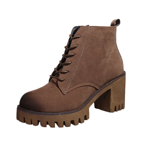 Womens Short Booties Ankle Boots Winter Women Martin Boots Shoes