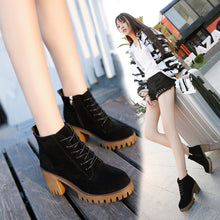 Load image into Gallery viewer, Womens Short Booties Ankle Boots Winter Women Martin Boots Shoes
