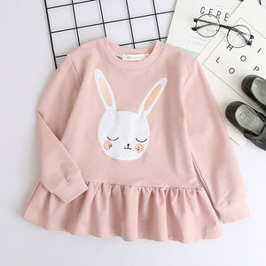 Bear Leader Girls dresses 2018 New spring&autumn casual style Asymmetrical striped princess dress The party for children clothes