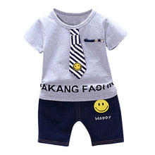 Load image into Gallery viewer, Boys Clothing Set Children Summer Boys Clothes Cartoon Kids Boy Clothing Set T-shit+Pants Cotton Clothing Set