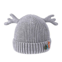 Load image into Gallery viewer, Baby Christmas Dear Antler Hat for Girls Boys Baby Cap Double Thick Warm Caps Knitted Caps Winter Children's Hats Gifts