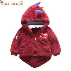 Bear Leader Outerwear Coats Winter Warm Thick Children girls Jacket Cute dinosaur Hooded Clothes fashion Cartoon Kids boys Coats