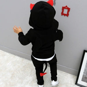 baby boys clothes 2018 New Autumn Casual Long Sleeve sport suit children sets Cartoon little devil clothing sets Halloween gifts