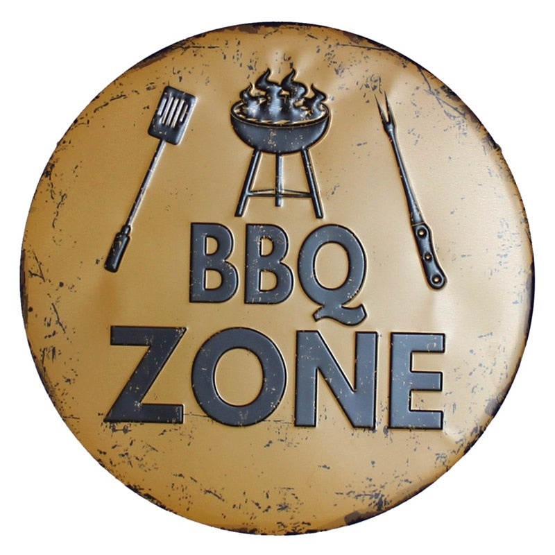 Metal Tin Signs (24 Different Designs)-Barbecue Basket