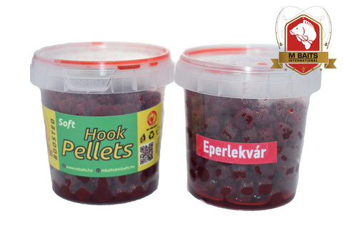 M Baits pehmeä koukkupelletti - Strawberry Jam 80g