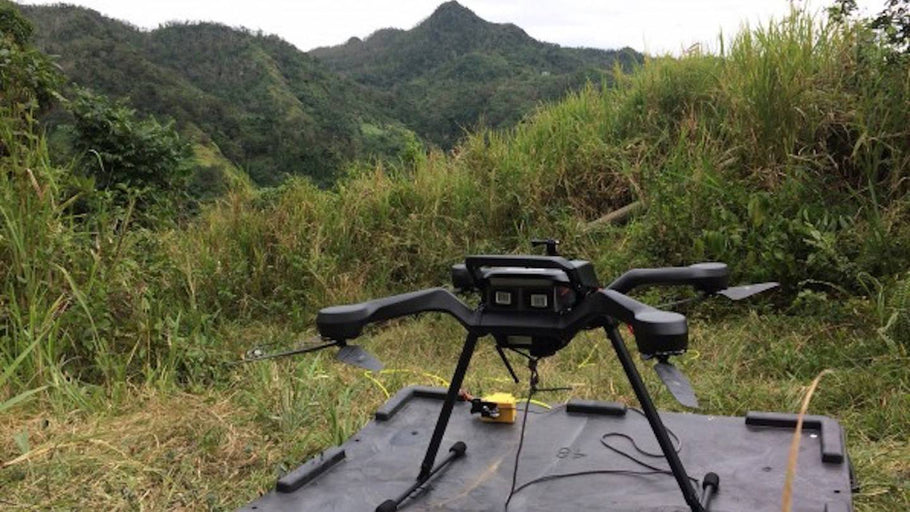These Power Line-Stringing Drones Are Restoring Power in Puerto Rico