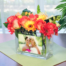 Load image into Gallery viewer, Personalized Glass Photo Vase